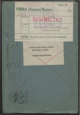 Calo's Visit to Central Headquarters, Germany From 22/9/46 - 25/9/46 - Reduction and Closure Plan