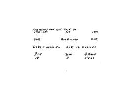 POW Cemetary Number 2 - Pusan, Korea - Index Card of Enemy Deceased - Sorted by Name - Unknown