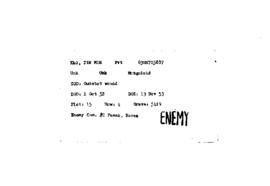 POW Cemetary Number 2 - Pusan, Korea - Index Card of Enemy Deceased - Sorted by Name - K