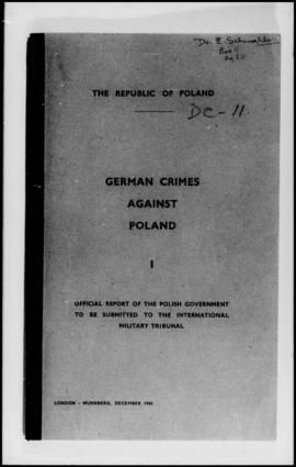 UNWCC - Publications relating to War Crimes Submitted by Governments - Poland - German Crimes aga...