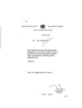 Reg. Commissions ECLAC: Economic Commission for Latin-America & the Caribbean  2004