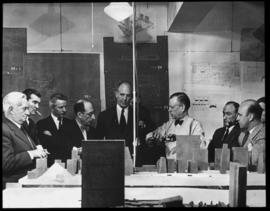 Group: Wallace Harrison with Board of Design and others