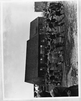 [Germany]:  UNRRA / 1945 : Kaserne, Germany, The group from Struth dances while waiting for the t...