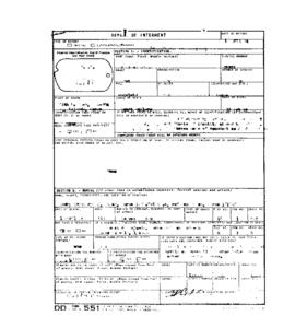 POW Cemetary Number 2 - Pusan, Korea - Internment Report - Grave 5529