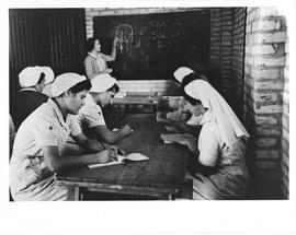 [Middle East] Yugoslav girls, evacuated early in 1944, in the nursing classes organised by Miss D...