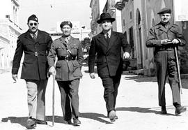 [Italy] Louis Varrichione, Camps Administrator; Col. C.F. Fothergill, AC; Lt. Col. Oldfield; Jack...