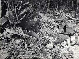 Photographs of crash site and plane remains