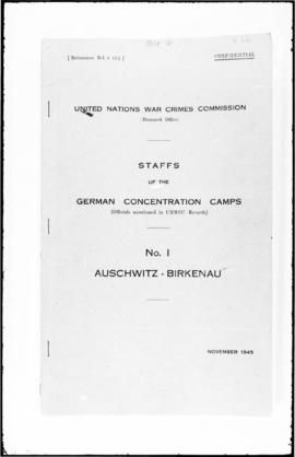 UNWCC - Documents of the Research Office Staffs of the German Concentration Camps (Vol. I - X, pr...