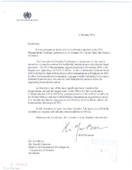 Invitations from the Executive Office of the Secretary-General (EOSG)