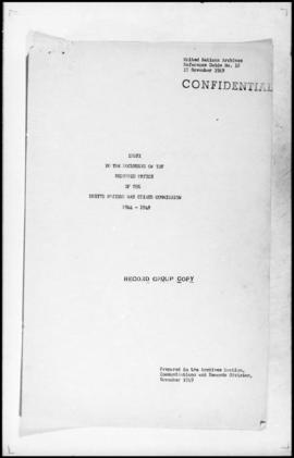 UNWCC - Documents of the Research Office Index to the Documents of the Research Office, 1944-1948
