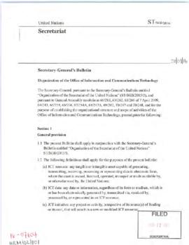 Human resources and management - Secretary-General's Bulletins and administrative instructions