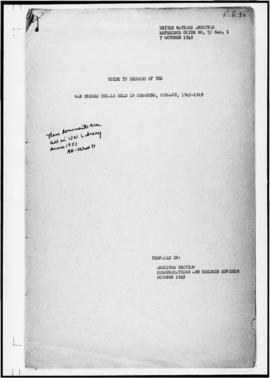 UNWCC - Guide and Stack List of records of the War Crimes Trials held in Nurnberg, Germany, 1945-...