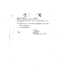 Korean Cemetary Correspondence File 5 - Letters of Transmittal 1
