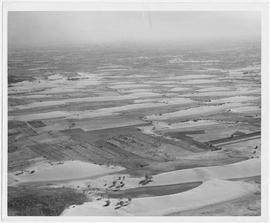 Aerial photograph of territory southeast of main breach in the southern dykes of the Yellow River...