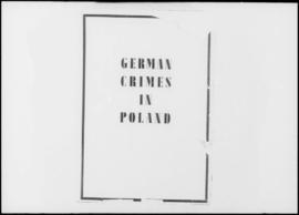 UNWCC - Publications - War Crimes Submitted by Governments - Poland - German Crimes in Poland Vol. I