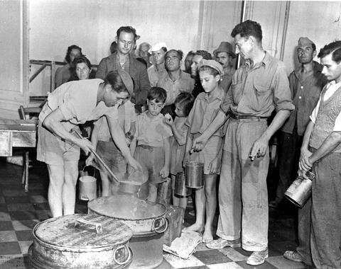 Italy] At the UNRRA camp, Santa Maria di Leuca, Greek, Yugoslav and